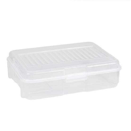 Rubbermaid See-Through Snap Case - Clear Blue - 6.8L