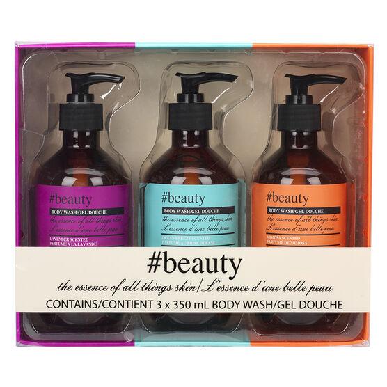 Hashtag beauty Body Wash Set - 3 x 350ml
