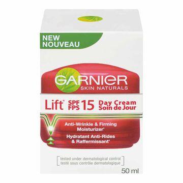 Garnier Skin Naturals Lift Anti-Wrinkle Firming Day Cream - SPF 15 - 50ml