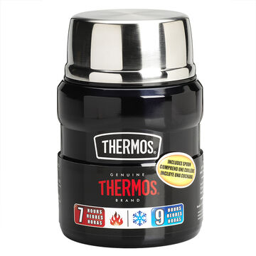Thermos Stainless Steel Vacuum Insulated Food Jar - Midnight Blue - 470ml