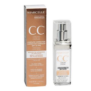Marcelle CC Cream Complete Correction SPF 35 - Light to Medium - 30ml