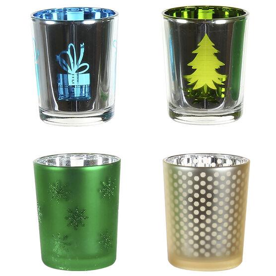 Danson Glass Tealight Holder - Assorted