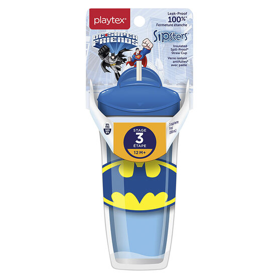 Playtex Straw Cup with Twist n' Click Technology - Batman - 266ml