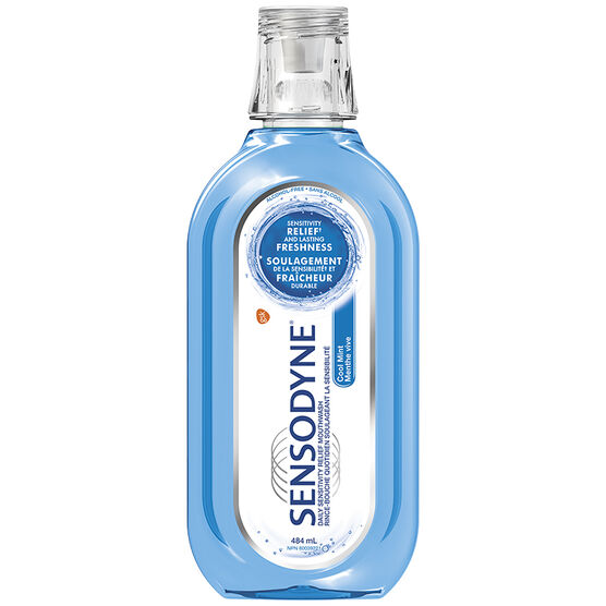 Sensodyne Sensitivity Relief Mouthwash - Cool Mint - 484ml