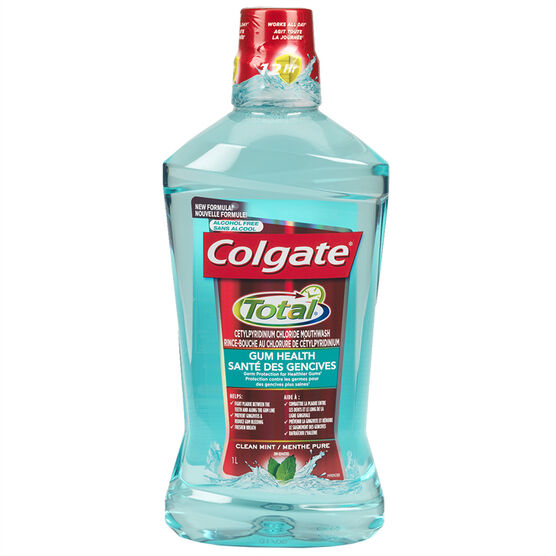 Colgate Total Gum Health Antiseptic Mouthwash - Clean Mint - 1L