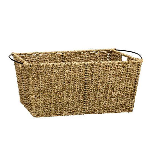 London Drugs Seagrass & Metal Basket - Medium