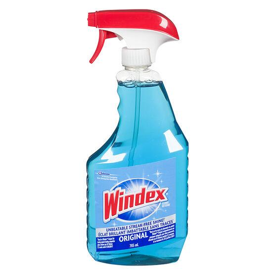Windex Trigger Blue Glass Cleaner Original 765ml London Drugs