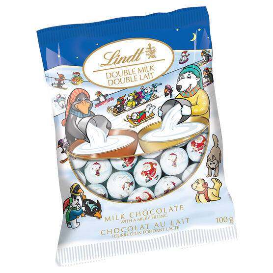 Lindt Milk Chocolate Mini Balls with Double Milk - 100g