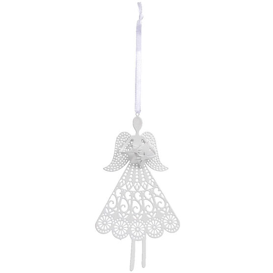 Winter Wishes Metal Angel Ornament - 4.75in - XLD682190FOB