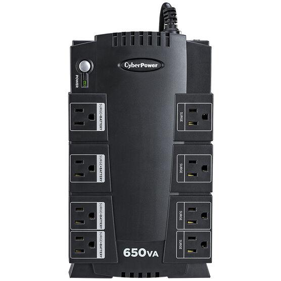 CyberPower 650VA UPS AVR 8-Outlet - Black - SX650G