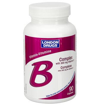 London Drugs Vitamin B Complex with 300mg Vitamin C - 90's