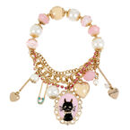 Betsey Johnson Cat Cameo Stretch Bracelet