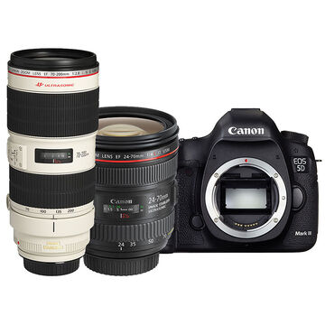 Canon EOS 5D Mark III with 24-70mm and 70-200mm Lens