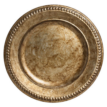 London Home Charger Plate - Silver