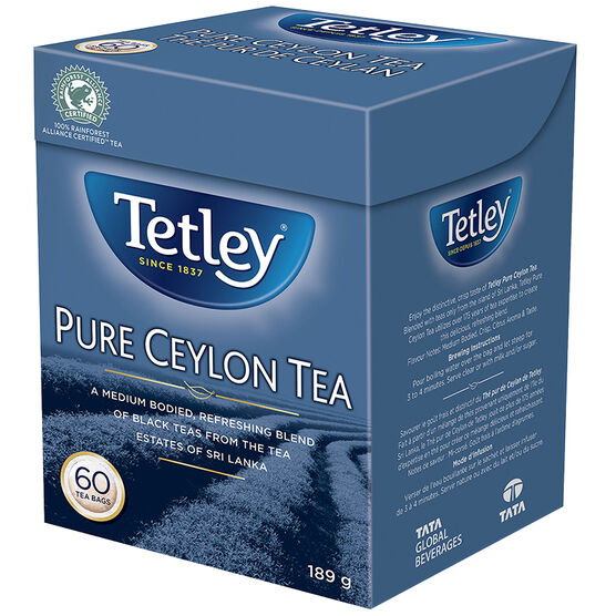 Tetley Pure Ceylon Black Tea - 60's