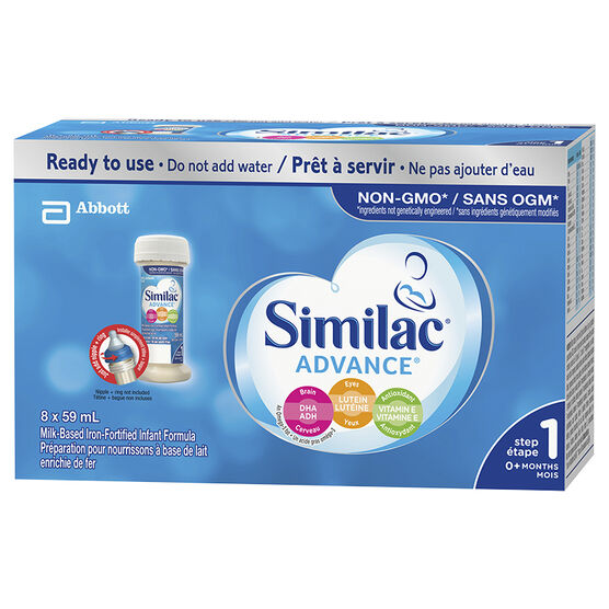 Similac Non-GMO Nursettes - 8x59ml