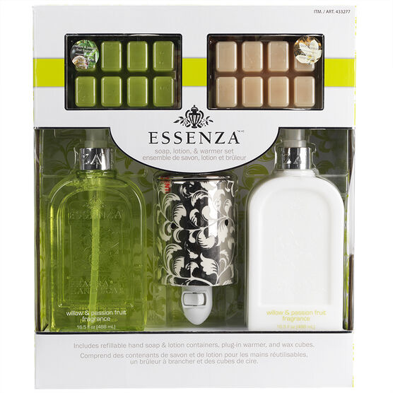 Essenza Soap Lotion & Warmer Gift Set - Green - 5 piece