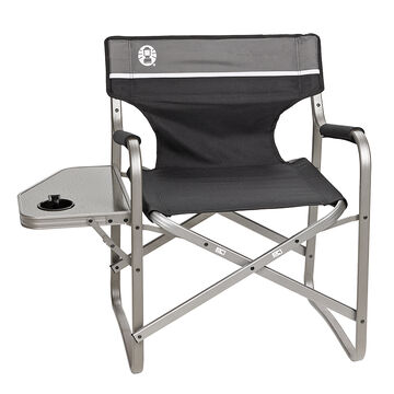 Coleman Portable Deck Chair With Table Black London Drugs