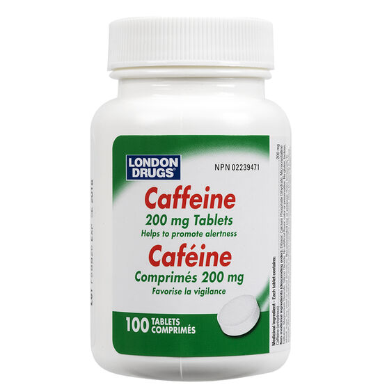 London Drugs Caffeine Tablets - 200mg - 100's