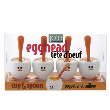 MSC Joie Egghead Cup & Spoon Set - Set of 4
