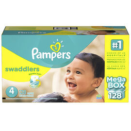 Pampers Swaddlers Diapers - Size 4 - 128s