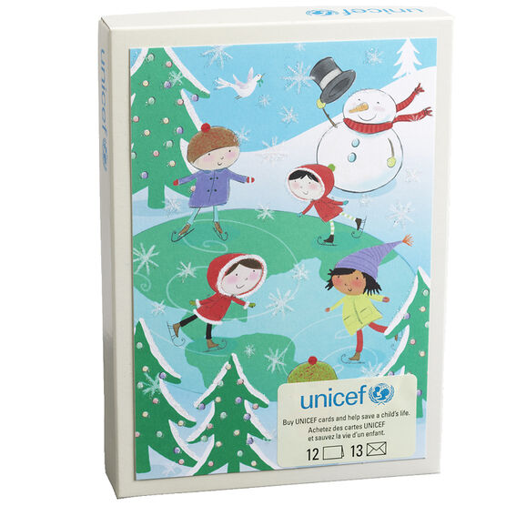 Unicef Christmas Cards - Global Skaters - 12 pack