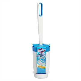 Clorox Flexible Toilet Brush with Holder - Blue/White