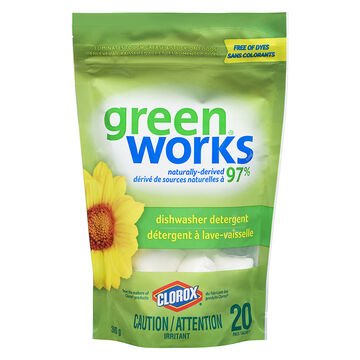 Green Works Dishwasher Detergent Tabs - Fresh - 20's