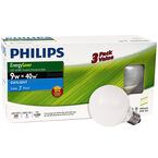 Philips Globe 9w CFL Light Bulb - Daylight - 3 pack