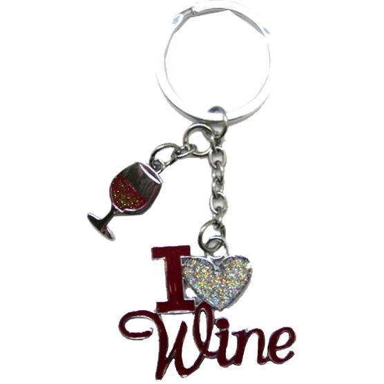 Valentine's I Love Wine Key Tag
