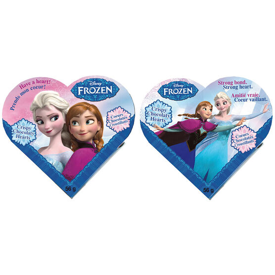 Disney Frozen Crispy Chocolate Hearts - 56g