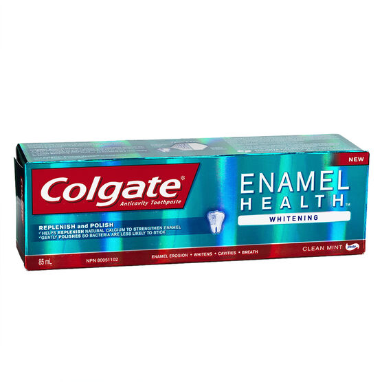 Colgate Enamel Health Whitening Toothpaste - Clean Mint - 85ml