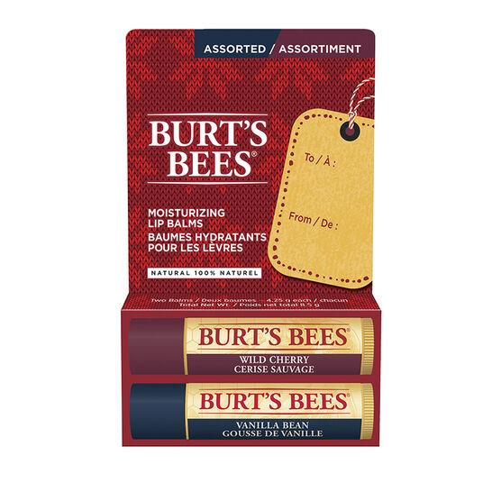 Burt's Bees Beeswax Lip Balm - Wild Cherry & Vanilla Bean - 2 x 4.2g