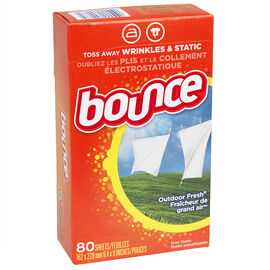 Bounce Fabric Softener Sheets - Outdoor Fresh - 80's