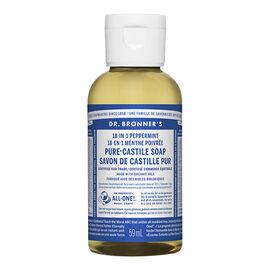 Dr Bronner's 18-In-1 Liquid Soap - Peppermint - 59 ml
