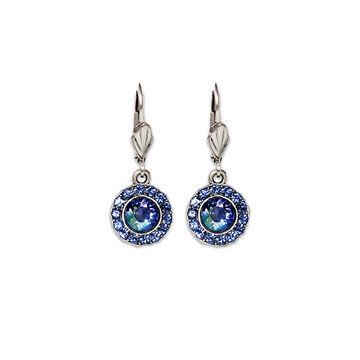 Anne Koplik Round Bulleye Drop Earrings - Blue