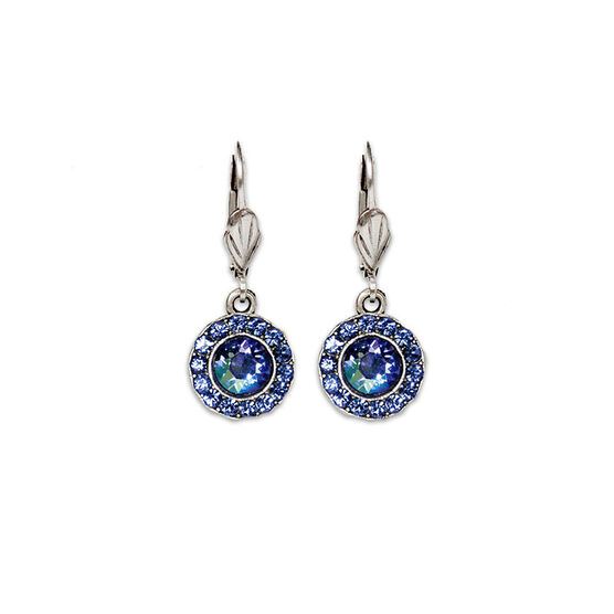Anne Koplik Round Bulleye Drop Earrings - Blue