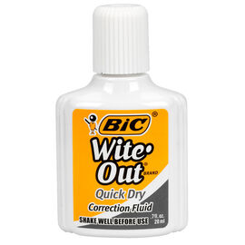 Bic Liquid Wite-Out - 12 pack