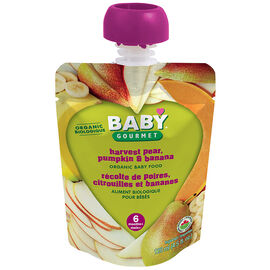 Baby Gourmet Baby Food Stage 1 - Harvest Pear, Pumpkin and Banana - 128ml