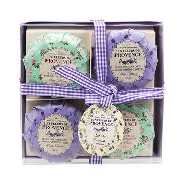 Les Fleurs de Provence Soap Set - 4 x 75g