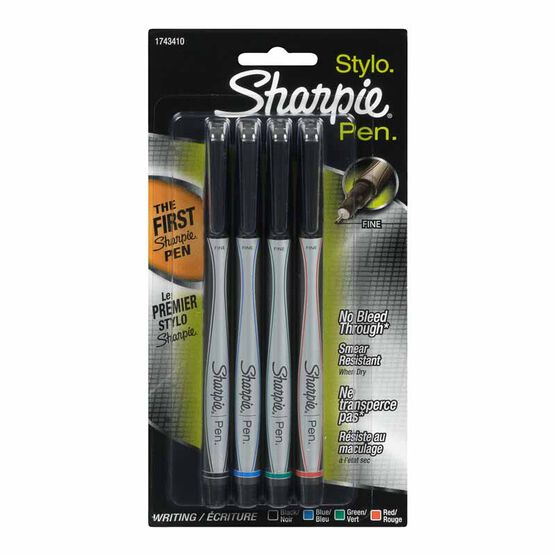 Sharpie Fine Point Pen - Assorted Colour - 4 pack