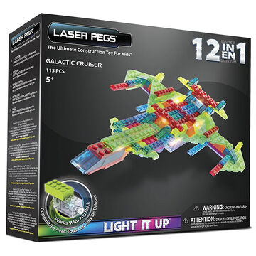 Laser Pegs 12-in-1 Galactic Cruiser Building Kit