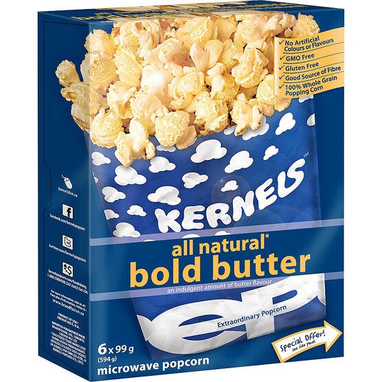 Kernels Microwave Popcorn - Bold Butter - 6pack