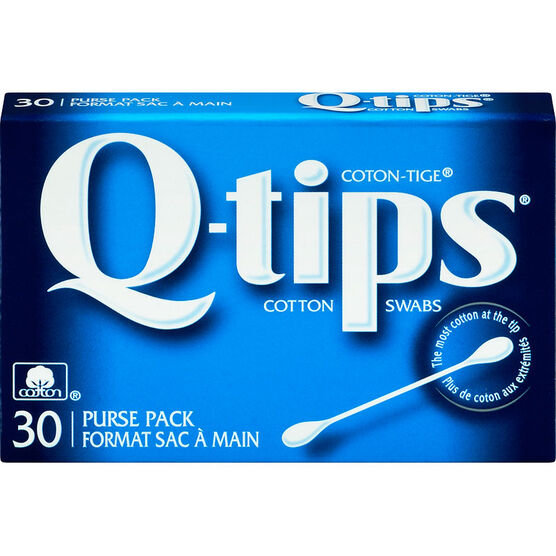 Q-Tips Cotton Swabs - Travel Pack - 30