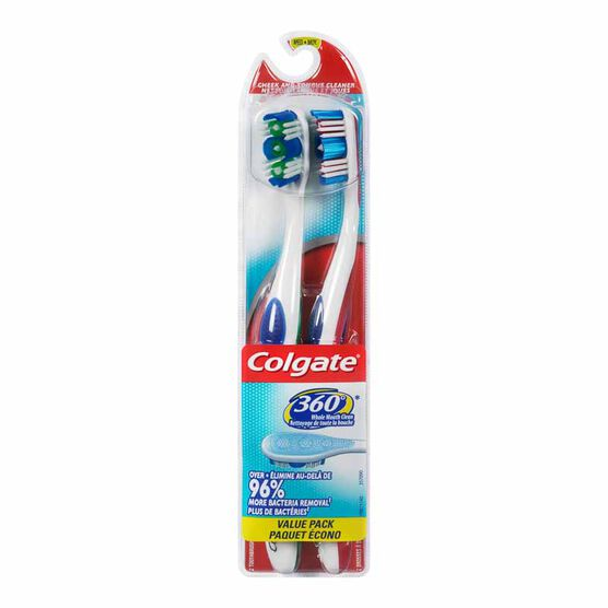Colgate 360 Manual Toothbrush - Medium - 2 pack