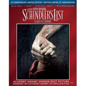 Schindler's List 20th Anniversary Limited Edition - Blu-ray Disc + DVD + Digital Copy + UltraViolet
