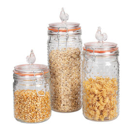 London Drugs Glass Canisters - 3 piece