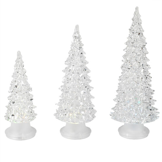 Acrylic LED Christmas Trees - Clear -GHWD15313