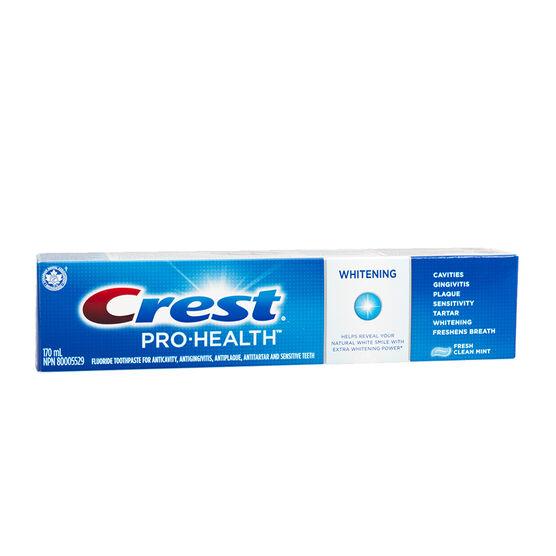 Crest Pro-Health Whitening Toothpaste - Fresh Clean Mint - 170ml