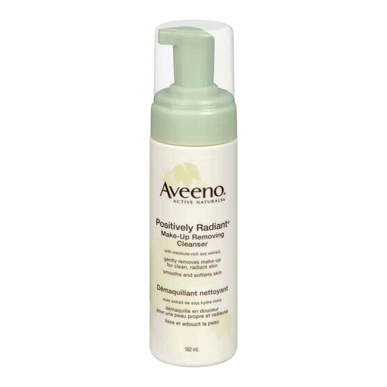 Aveeno Active Naturals Positively Radiant Make-up Removing Cleanser - 162ml